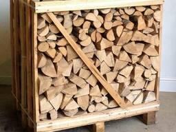 Дрова колотые (дуб, граб, береза, ольха) тех. сушка в ящиках - photo 1