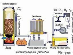 Газогенератор на отходах для тепловой и электро энергии. - фото 1