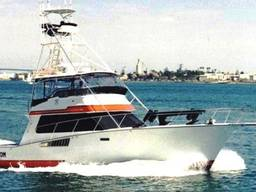 50ft motor yachts of the Atlantic50 Sport Fisherman type with an aluminum hull