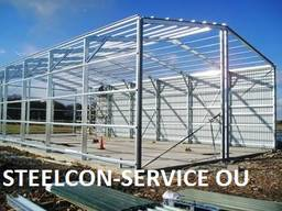 Steel construction, welded steel construction