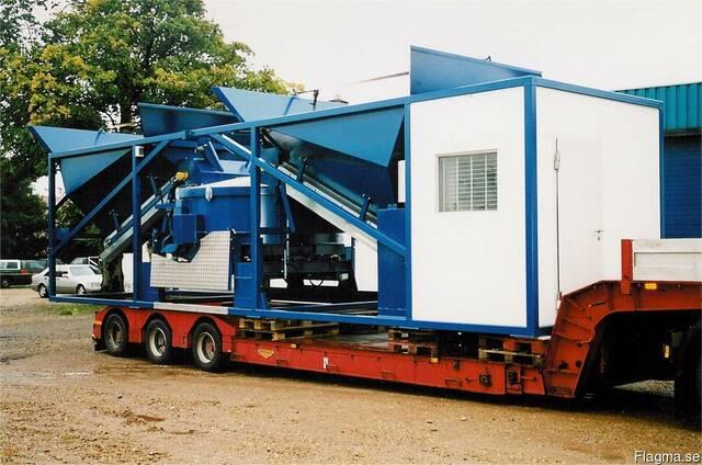 Мобильный бетонный завод, РБУ, БСУ 70-80 м3 в час Sumab K-80