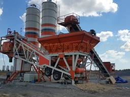 MVS 60M 60m3/hour Mobile Concrete Batching Plant - photo 1