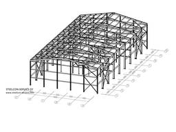 Frame steel halls, welded steel construction